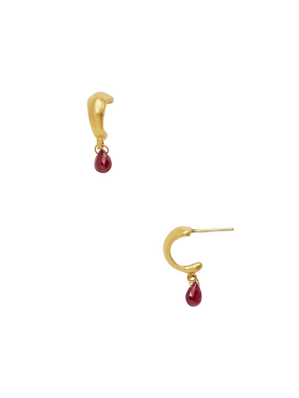 Gurhan Classic Dew Hoop Earrings with Single Briolette wYuym