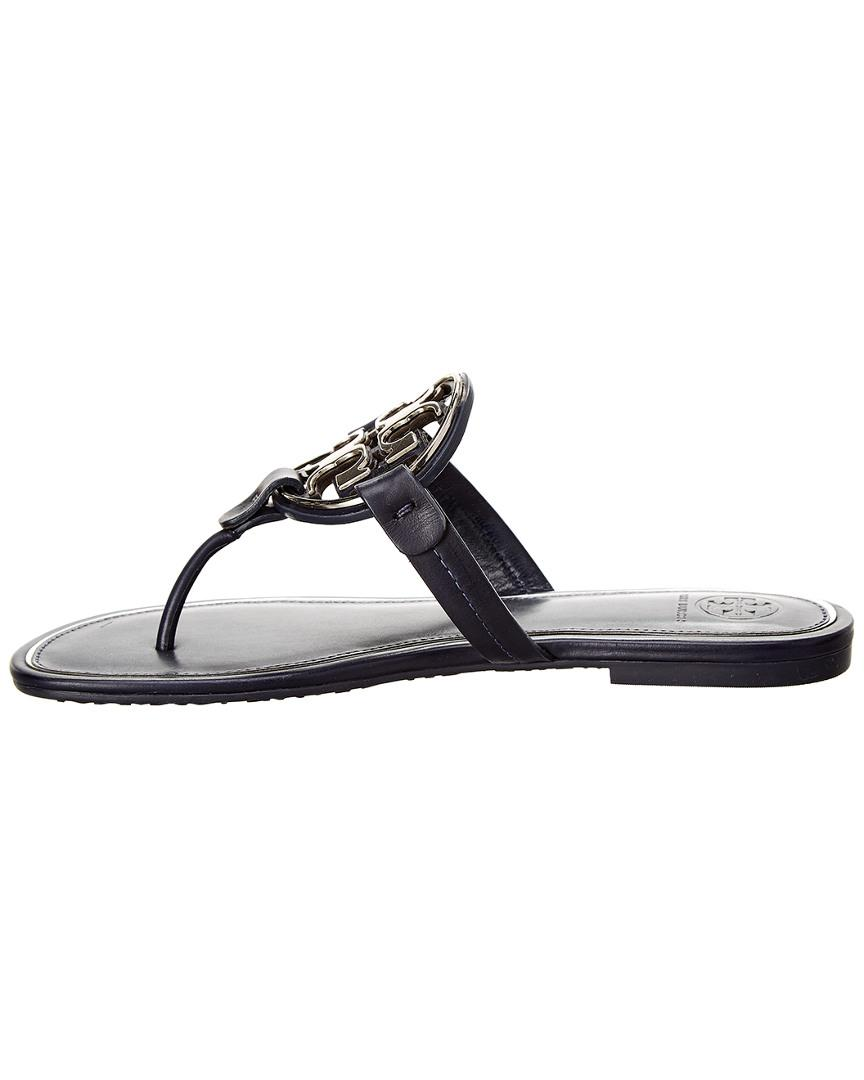 62ac218239a07 Lyst - Tory Burch Miller Leather Sandal in Blue