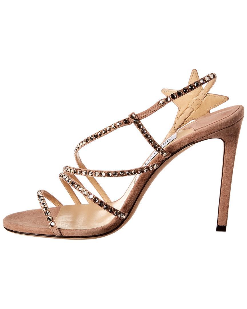 5f5bc9af9ef137 Lyst - Jimmy Choo Lynn 100 Suede Sandal in Pink