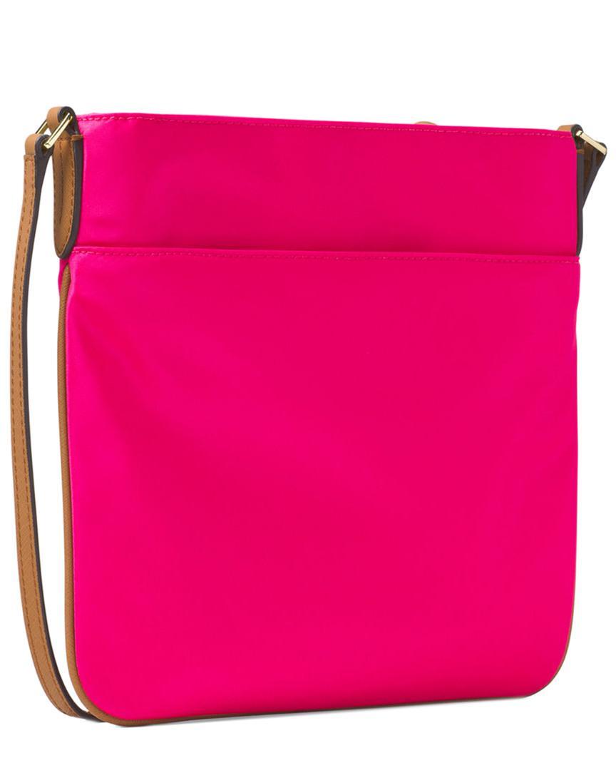 80532370b8 Lyst - MICHAEL Michael Kors Kelsey Large Nylon Crossbody in Pink