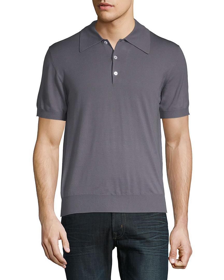 d20d2d737 Brioni Wool Polo in Gray for Men - Save 38% - Lyst