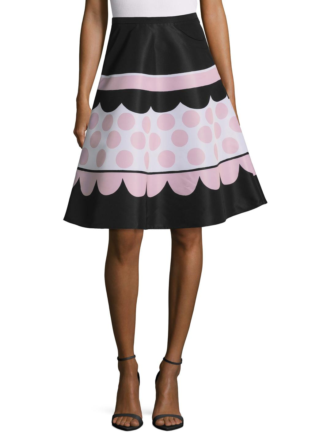 Red Valentino printed A-line skirt Popular For Sale Cheap Sale Choice YVMZpW97