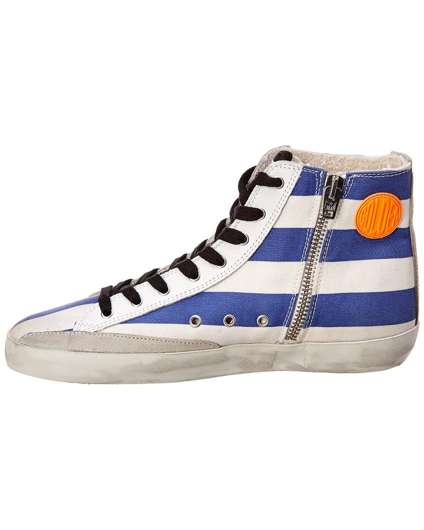 ec3c46881317 Golden Goose Deluxe Brand Mid Star Leather Sneaker in White - Save  24.18300653594771% - Lyst
