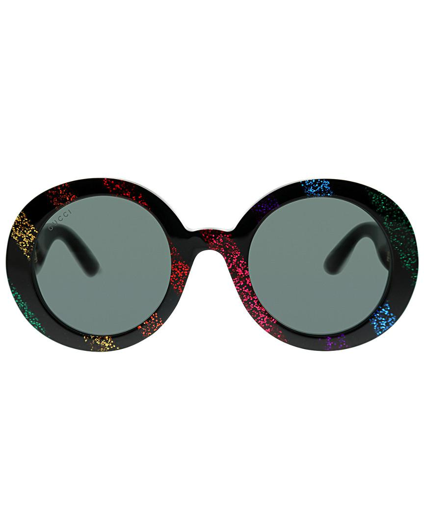 85810a6db Lyst - Gucci Women's Round 52mm Sunglasses in Black