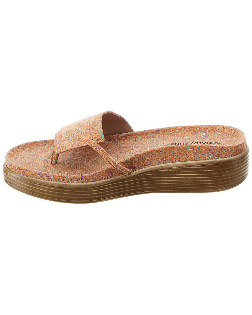 34468a7575ee Lyst - Donald J Pliner Fiji Wedge Sandal in Brown