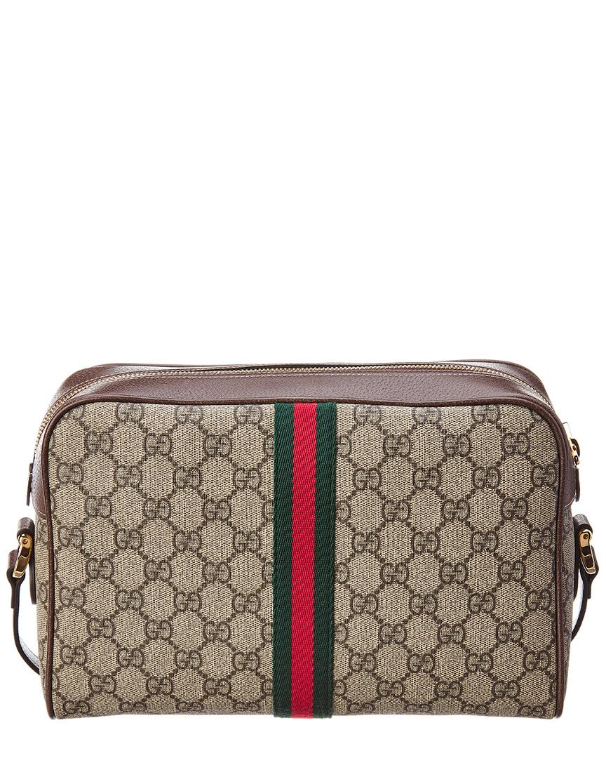 3106e4111 Gucci Ophidia GG Small Supreme Canvas & Leather Shoulder Bag - Lyst