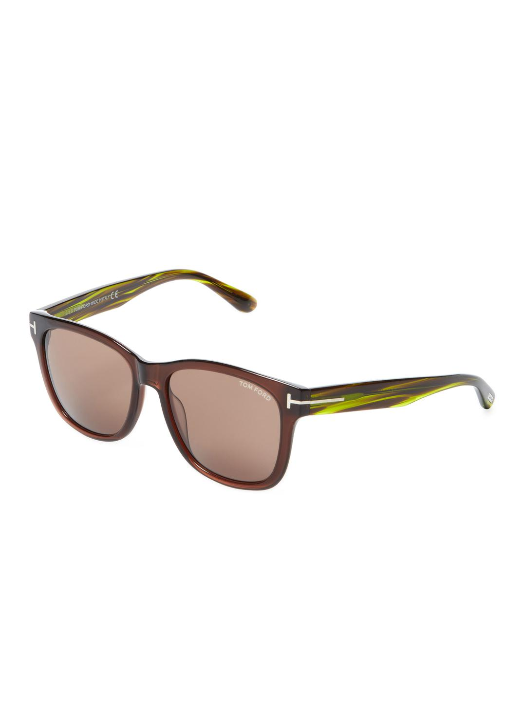 a8f7ae29fc Tom Ford Cooper Tinted Square Frame in Brown - Lyst