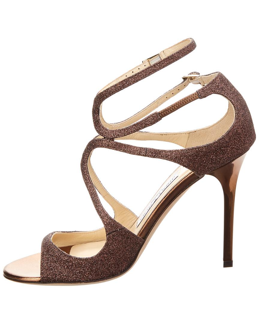 5414f3cb457e18 Lyst - Jimmy Choo Paloma Lang Heeled Sandals in Brown - Save 61%