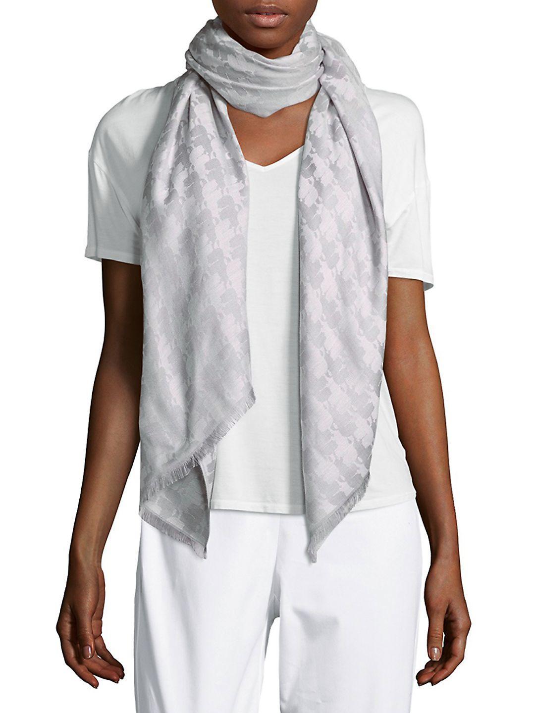 logo print scarf - White Karl Lagerfeld f39EI