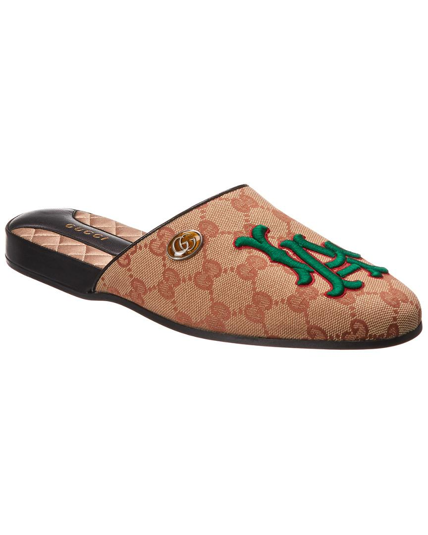 e9ba6b1b7ce5 Lyst - Gucci GG La Angels Slipper in Brown