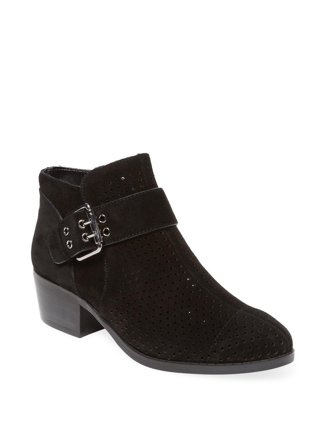 e4dc6f04ddb Lyst - Karl Lagerfeld Amica Perforated Bootie in Black