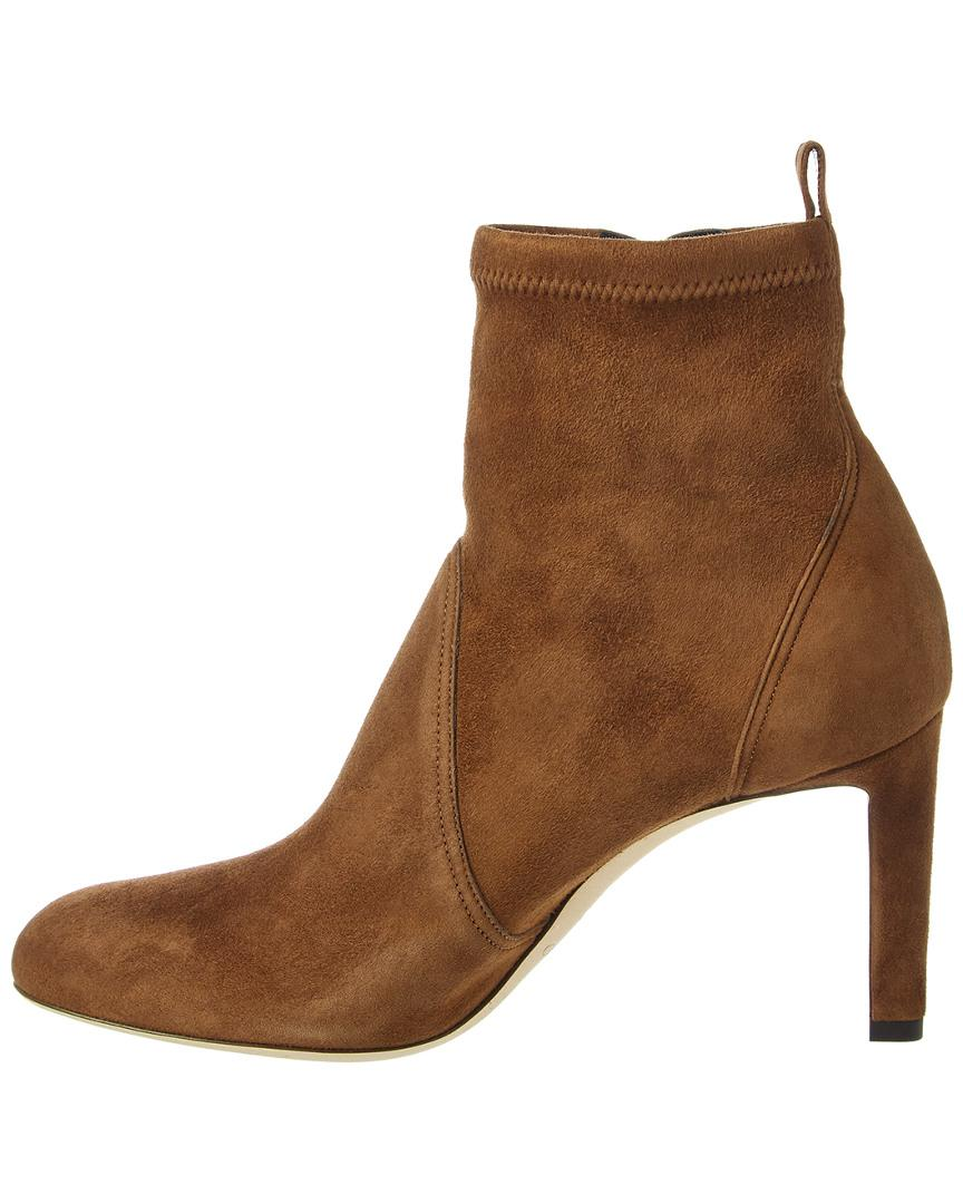 7be4df57155 Jimmy Choo Mallory 85 Suede Bootie in Brown - Lyst