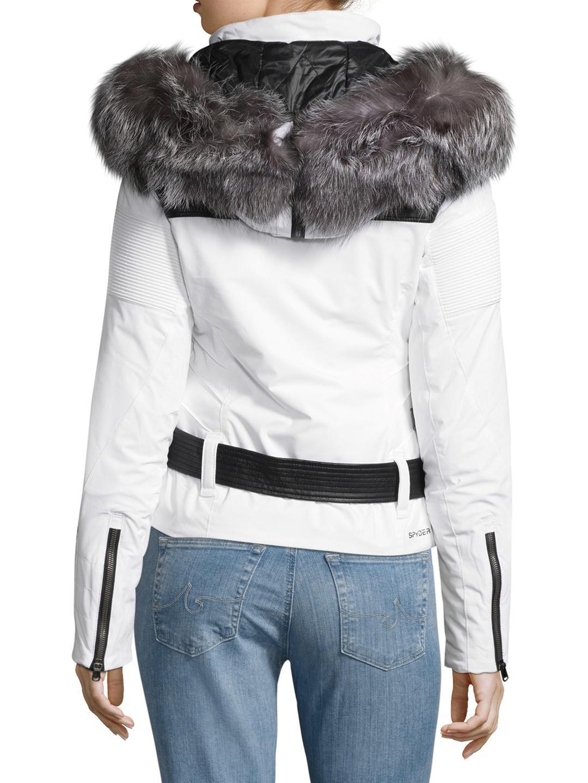 Lyst - Spyder Amour Belted Hood Jacket c47b3b50a66