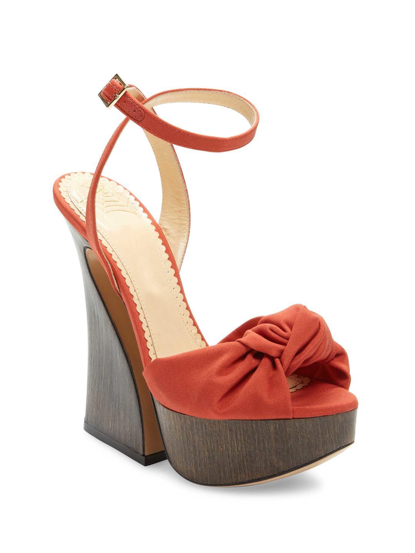Charlotte Olympia Aristocat 90 velvet plateau sandals YJLM6