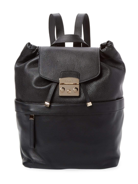 8adf3c1dd004 Furla Lara Small Leather Backpack in Black - Lyst