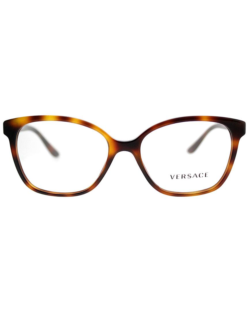 e91724bab755 Versace Women s Ve3235b 52mm Optical Frames in Brown - Save 9% - Lyst