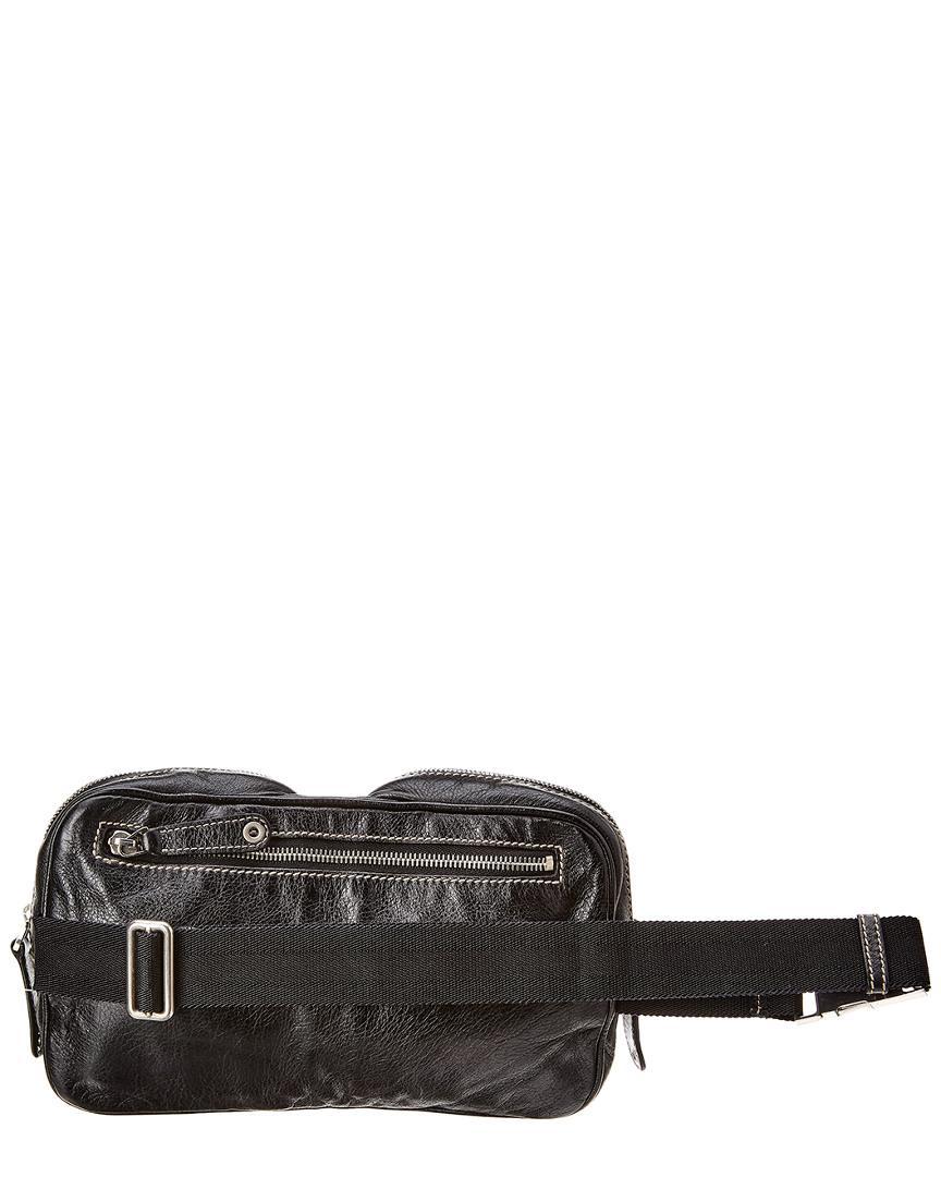 f71226c8fab872 Gucci Black Leather Waist Pouch in Black - Lyst
