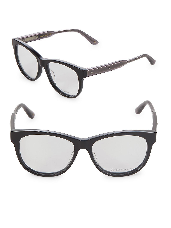 48c1293918 Lyst - Bottega Veneta 54mm Cat Eye Optical Glasses in Black
