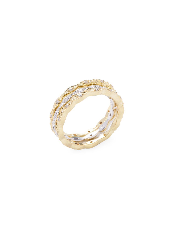 e535b6bbc0590 Lyst - Danni Filigree Diamond Ring in Metallic