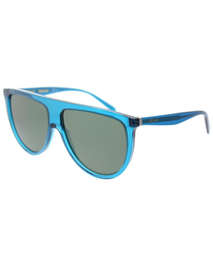 83d0a7e3dbde Céline - Blue Women s Geometric 61mm Sunglasses - Lyst. View fullscreen