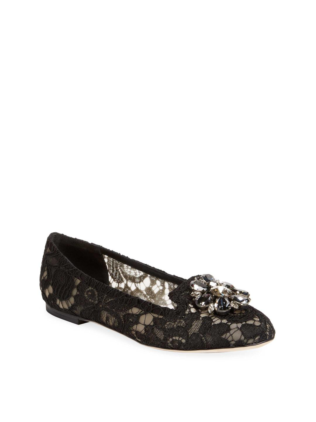 Big Sale For Sale Discount 2018 New Dolce & Gabbana Taormina Cloth Ballet Flats Looking For Huge Surprise Sale Online New Cheap Price EORXVKlqh