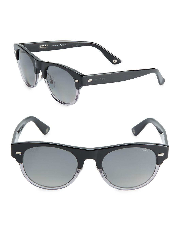 ecf1c010f8 Lyst - Gucci 53mm Clubmaster Sunglasses in Gray for Men