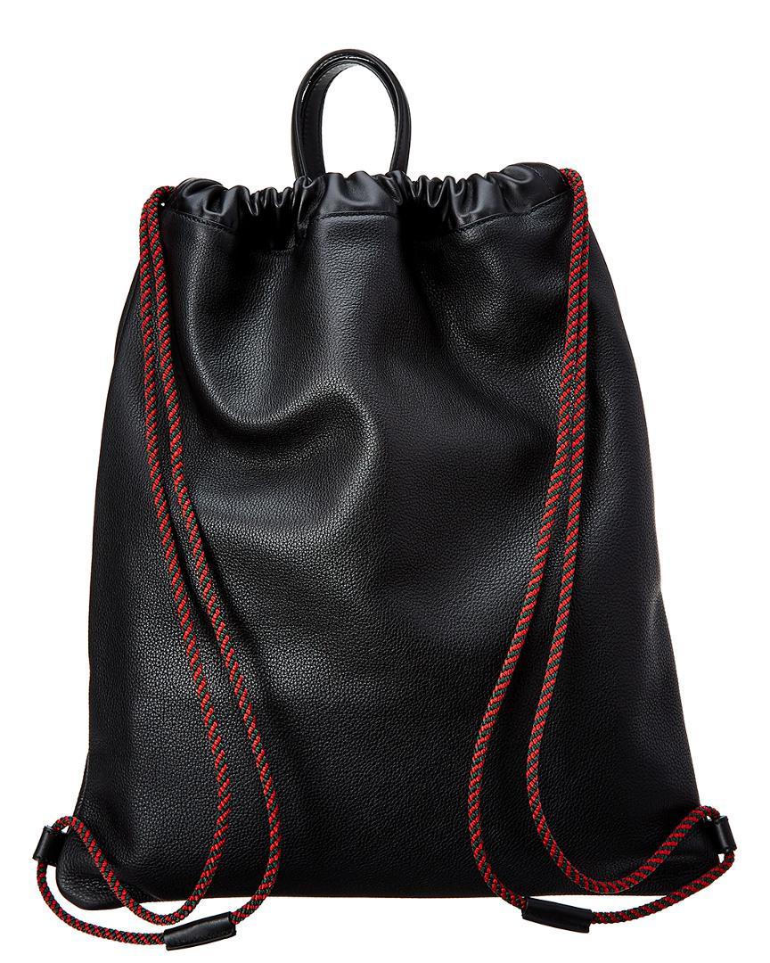 9ad52fc1cbf2 Lyst - Gucci Vintage Logo Printed Drawstring Backpack in Black for Men -  Save 48%