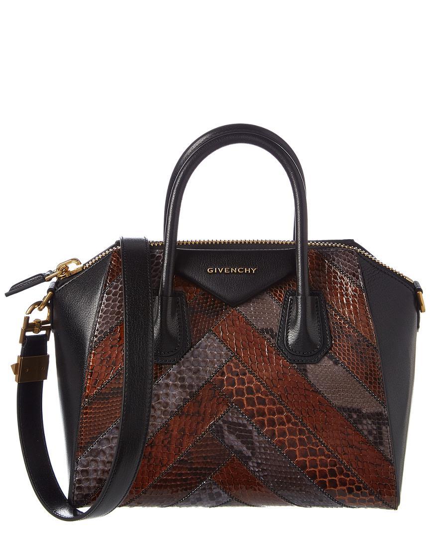 688fdab36bac Givenchy - Black Small Antigona Leather   Python Satchel - Lyst. View  fullscreen