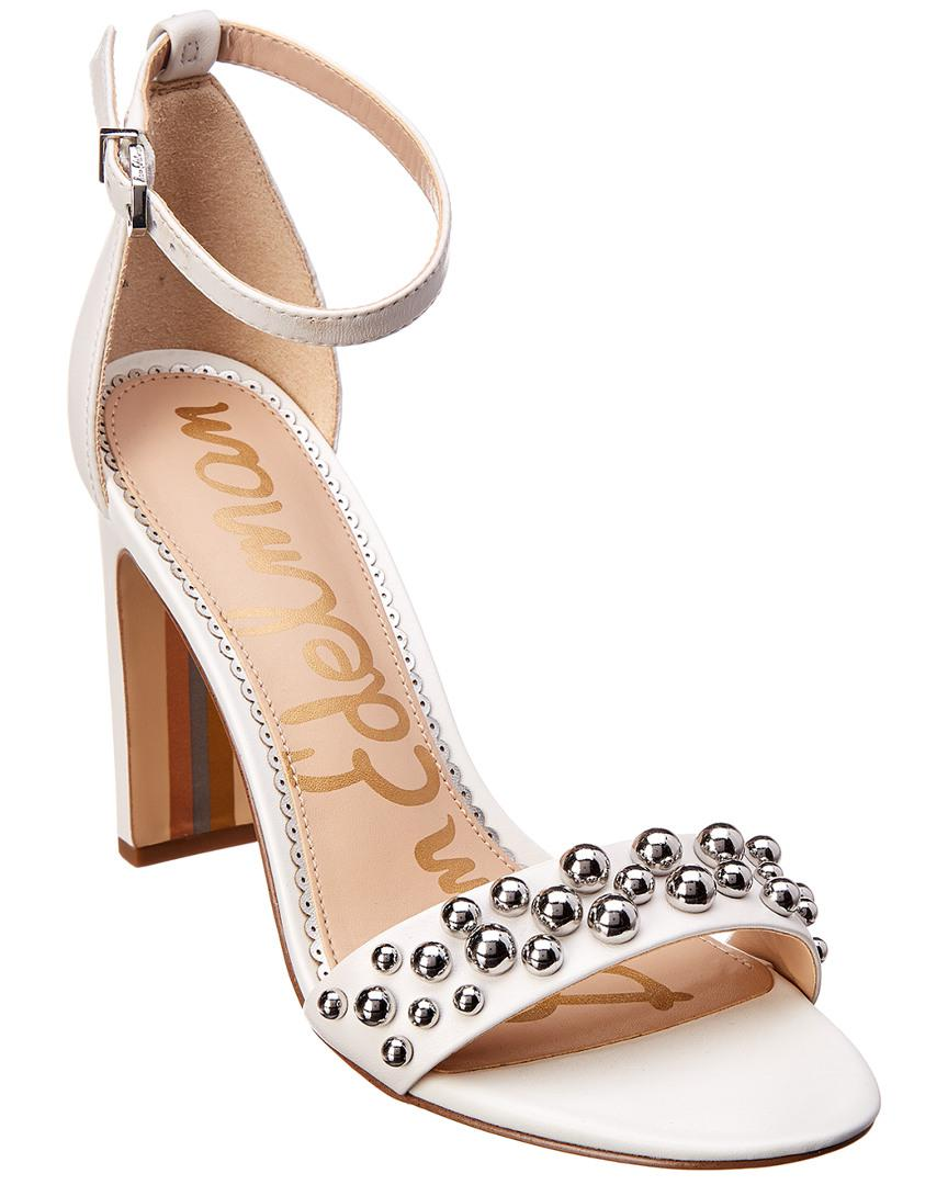 a83610a84389 Lyst - Sam Edelman Yoshi Leather Sandal in White