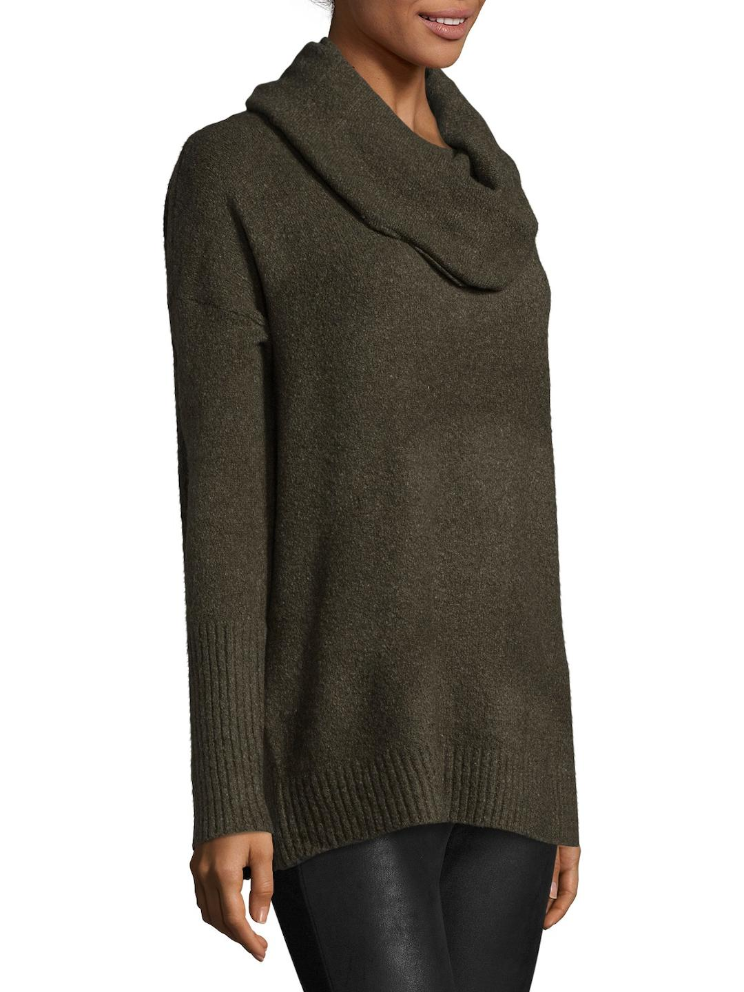 French connection Weekend Flossy Cowlneck Sweater in Green | Lyst