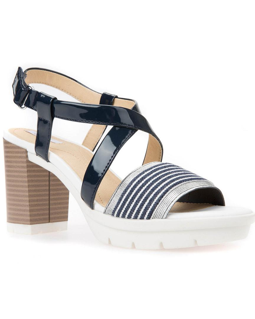 6236c43ff32 Lyst - Geox Gintare Sandal in Blue