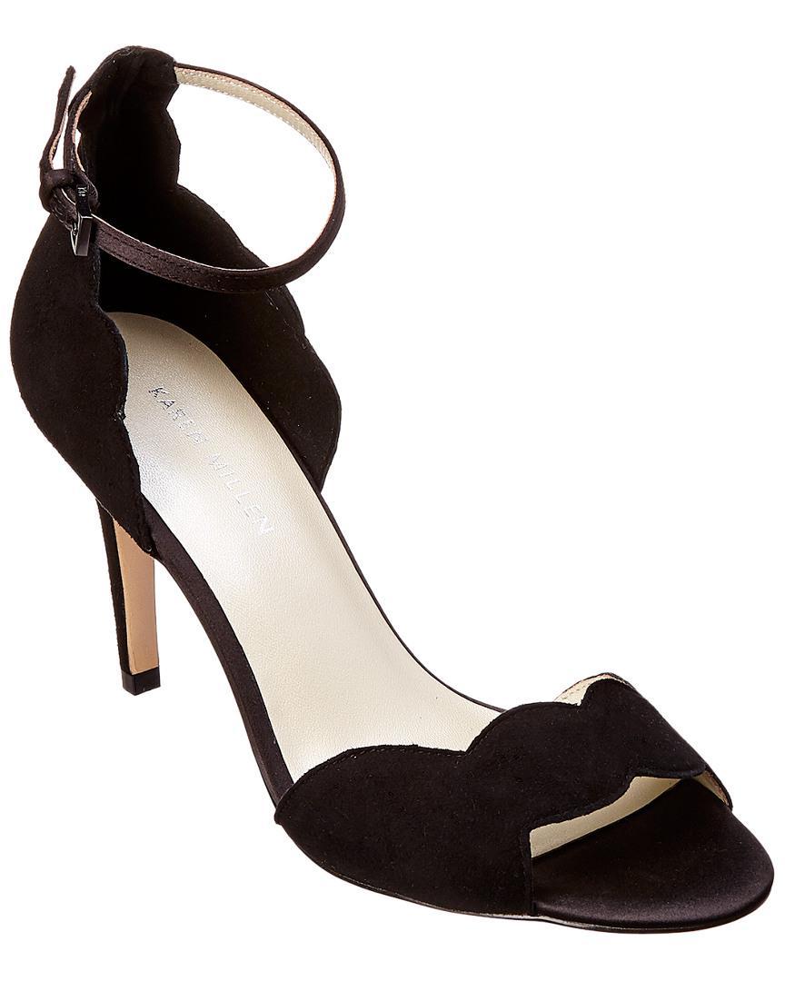 c861386d3ad Lyst - Karen Millen Suede Sandal in Black - Save 2%