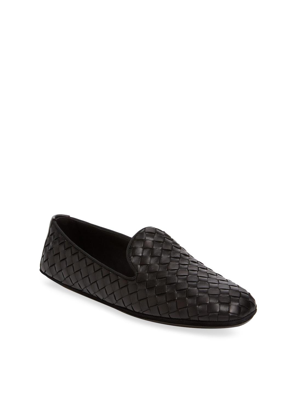 Bottega Veneta Fiandra Woven Leather Loafers rfc9YHXIKf