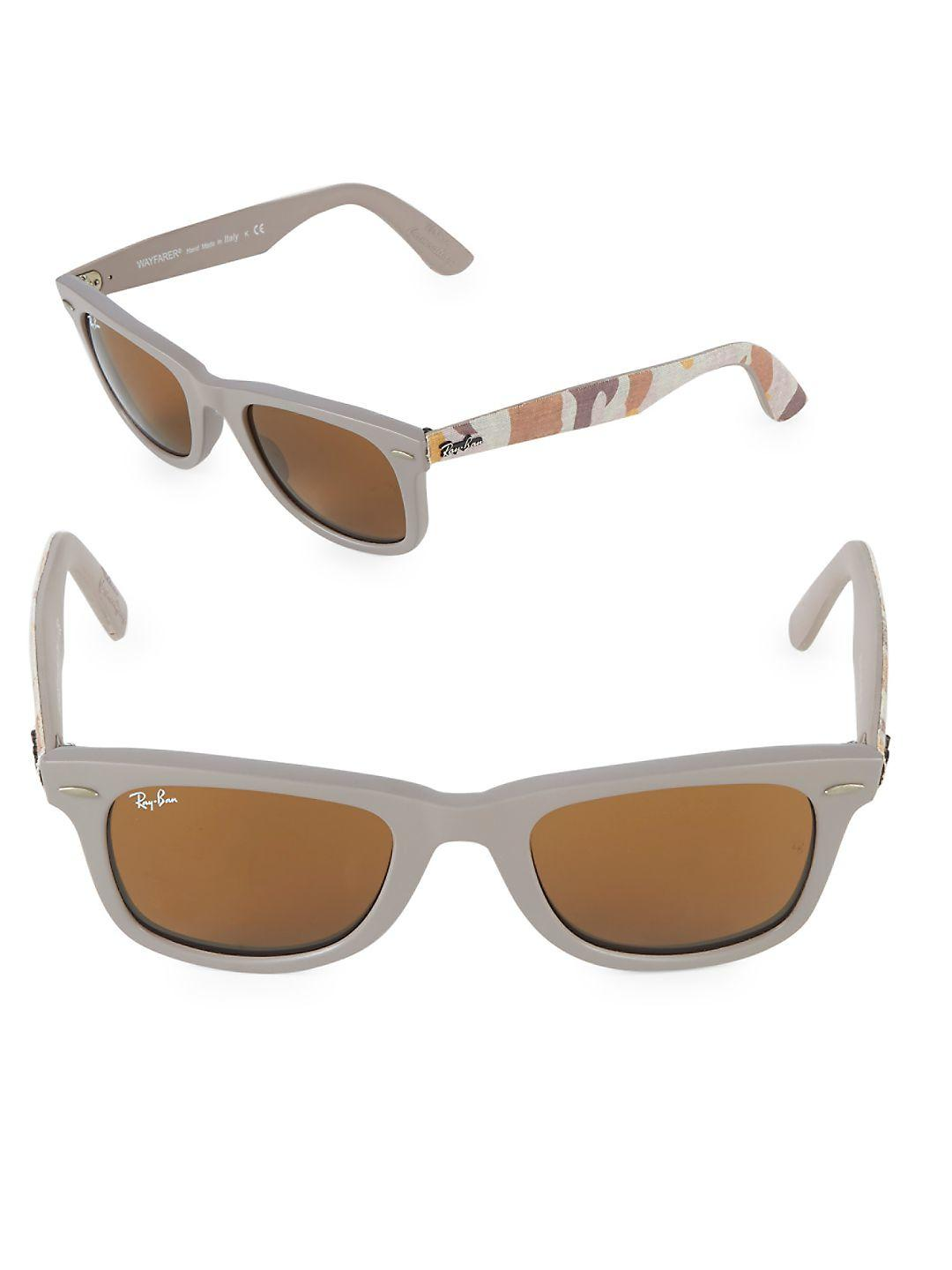056bbfc442a Lyst - Ray-Ban 47mm Classic Wayfarer Sunglasses in Natural for Men