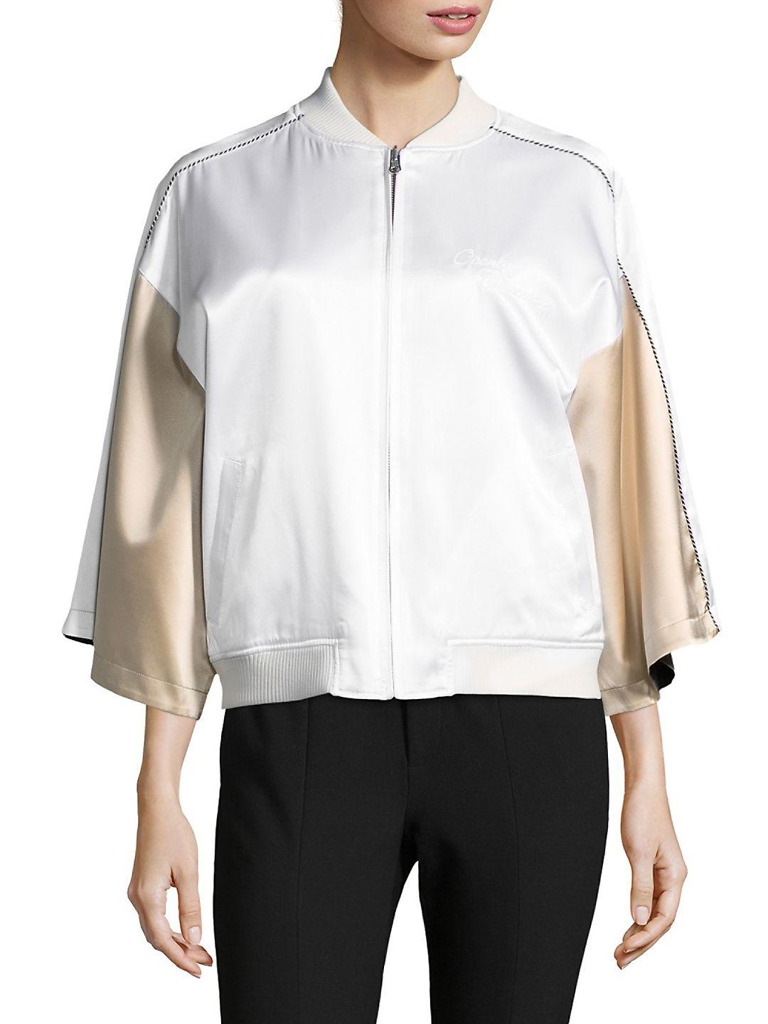 Outlet Cheap Prices Best Wholesale For Sale Opening Ceremony Woman Reversible Printed Silk-satin Jacket Ivory Size S Opening Ceremony Cheap Low Price Buy Cheap Discount Low Shipping Sale Online 3A5KnsHXX
