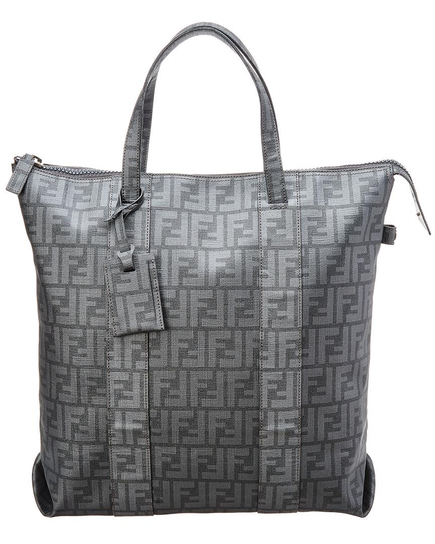 9272aec8d1 Fendi Grey Zucca Canvas Tote in Gray - Lyst