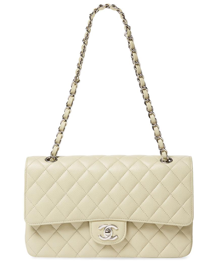 2b458555fccb Lyst - Chanel Mint Green Quilted Lambskin Leather Medium Single Flap Bag