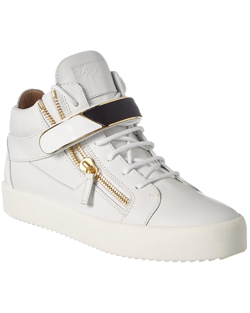 afb280474d777 Lyst - Giuseppe Zanotti Leather Sneaker in White for Men