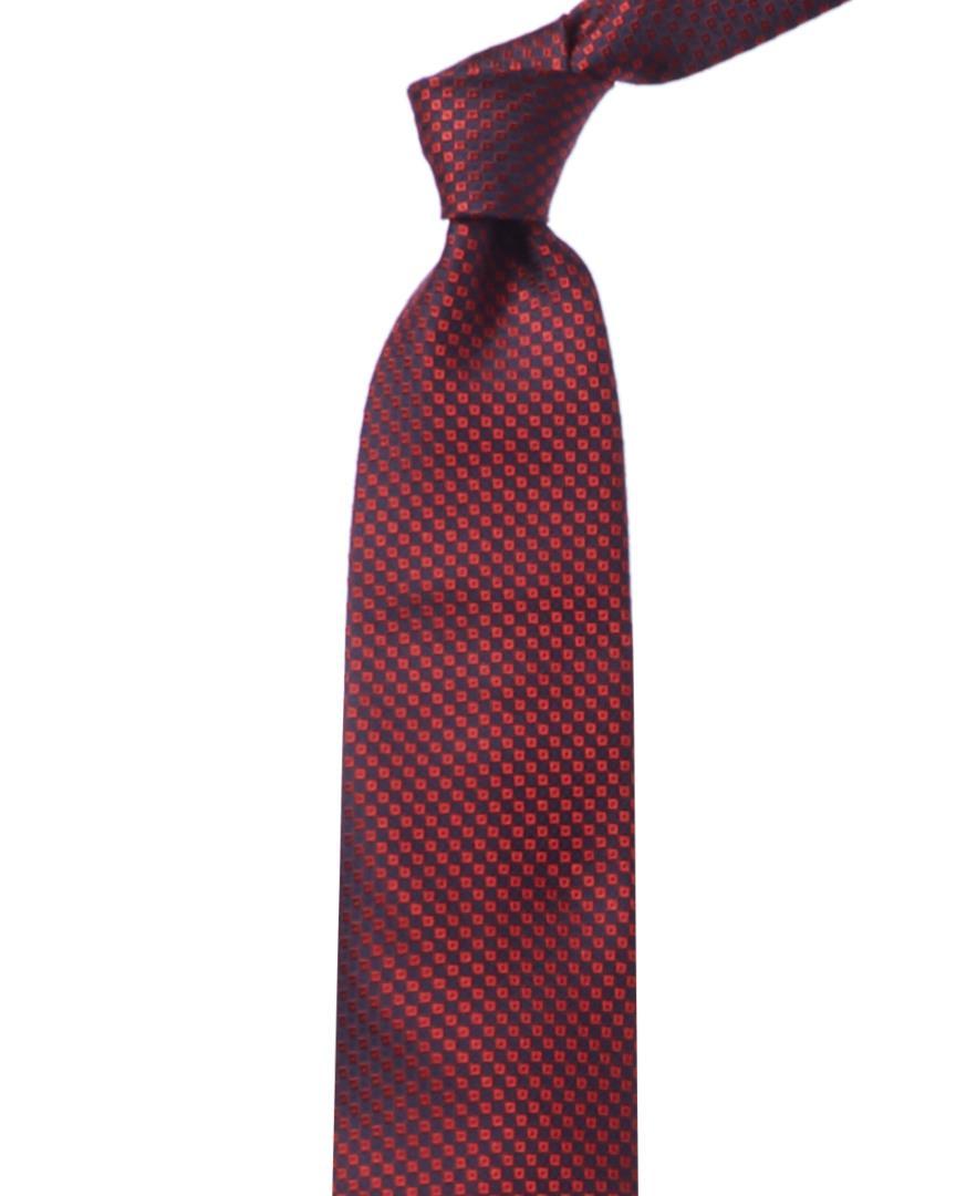 fa5d2088 Lyst - Ermenegildo Zegna Ermenegildo Navy & Red Check Silk Tie in ...