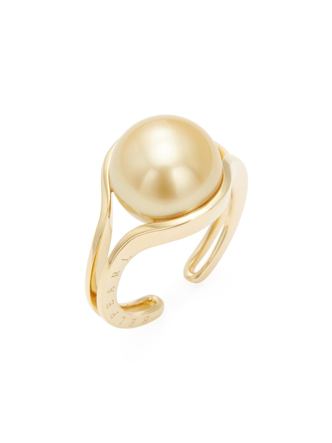 Belpearl 18k Double South Sea Pearl Ring, Size 6