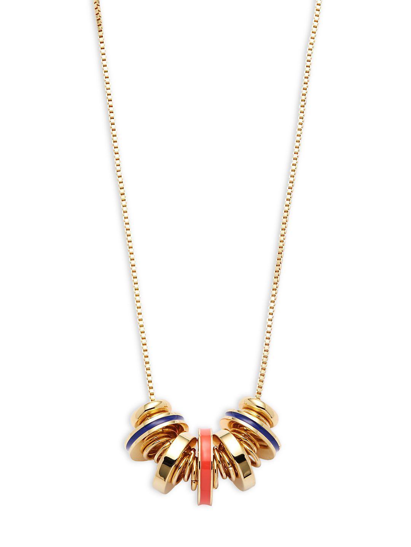 Trina Turk Cascading Disc Necklace M5fRlI8P