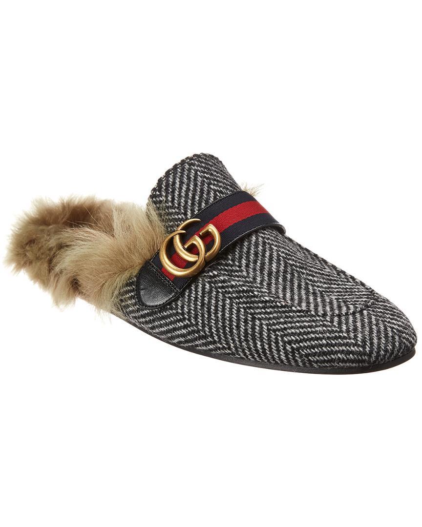 af1d81312 Lyst - Gucci Tartan Princeton Loafer in Gray for Men - Save 6%