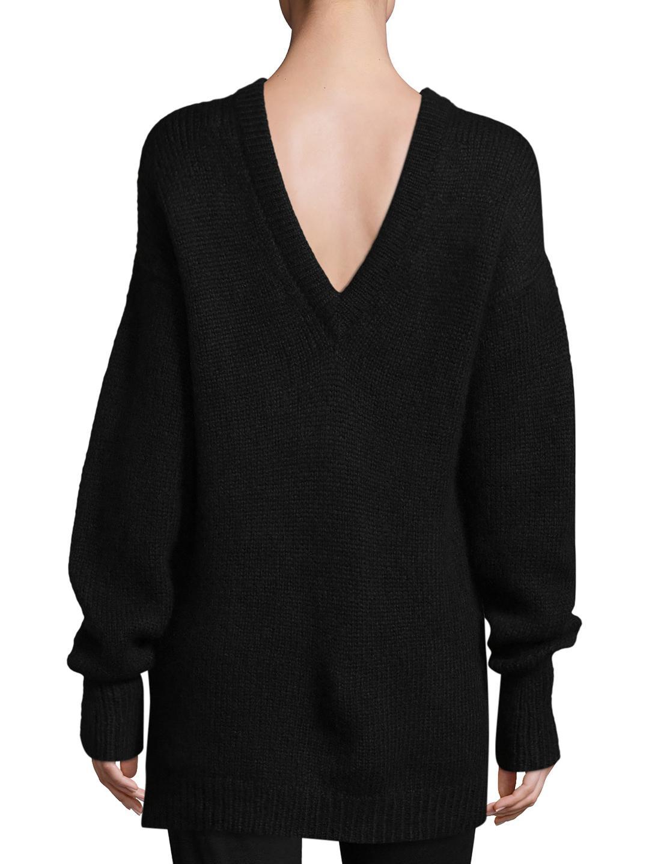 Back Tibi Lyst V Black Pullover In CnxRFa5