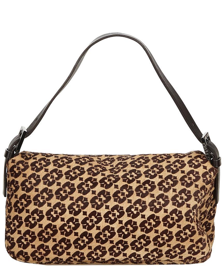 8f81e410a38 Fendi Brown Ponyhair Baguette Bag in Brown - Lyst