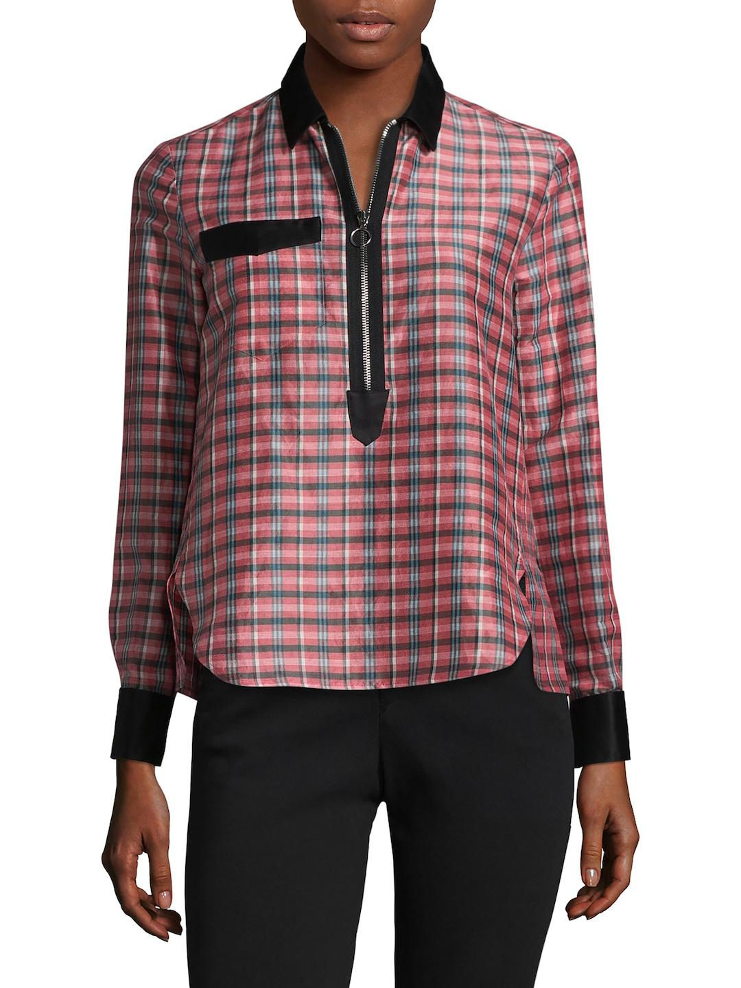 Eastbay Cheap Online Isabel Marant Woman Poplin-trimmed Checked Ramie And Silk-blend Shirt Pink Size 36 Isabel Marant Discount Sale Online JOJZA