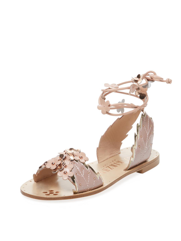 6e9a32611291 Lyst - Ivy Kirzhner Gardenia Leather Sandal