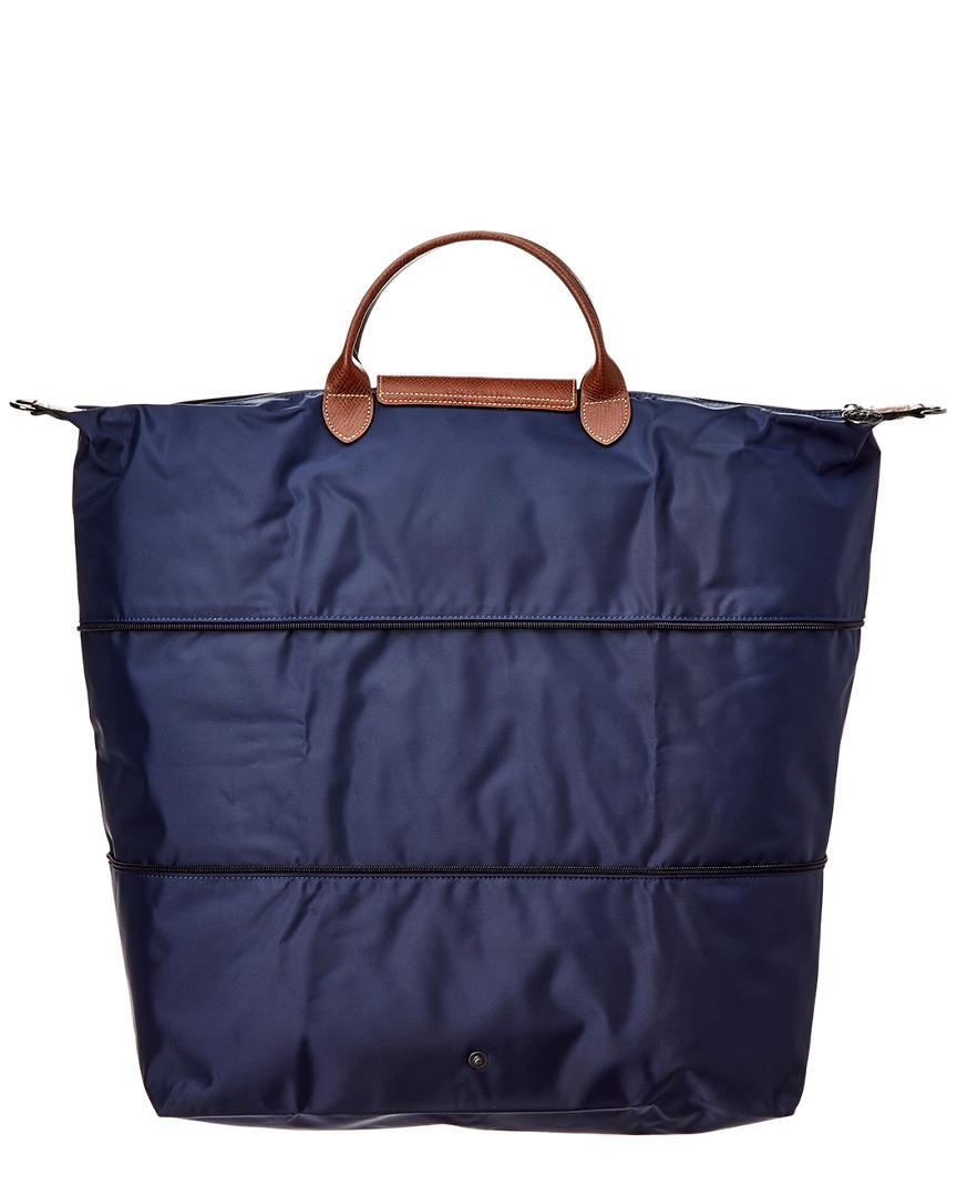 Longchamp Le Pliage Nylon   Leather Travel Bag in Blue - Lyst a36c8f6e07449