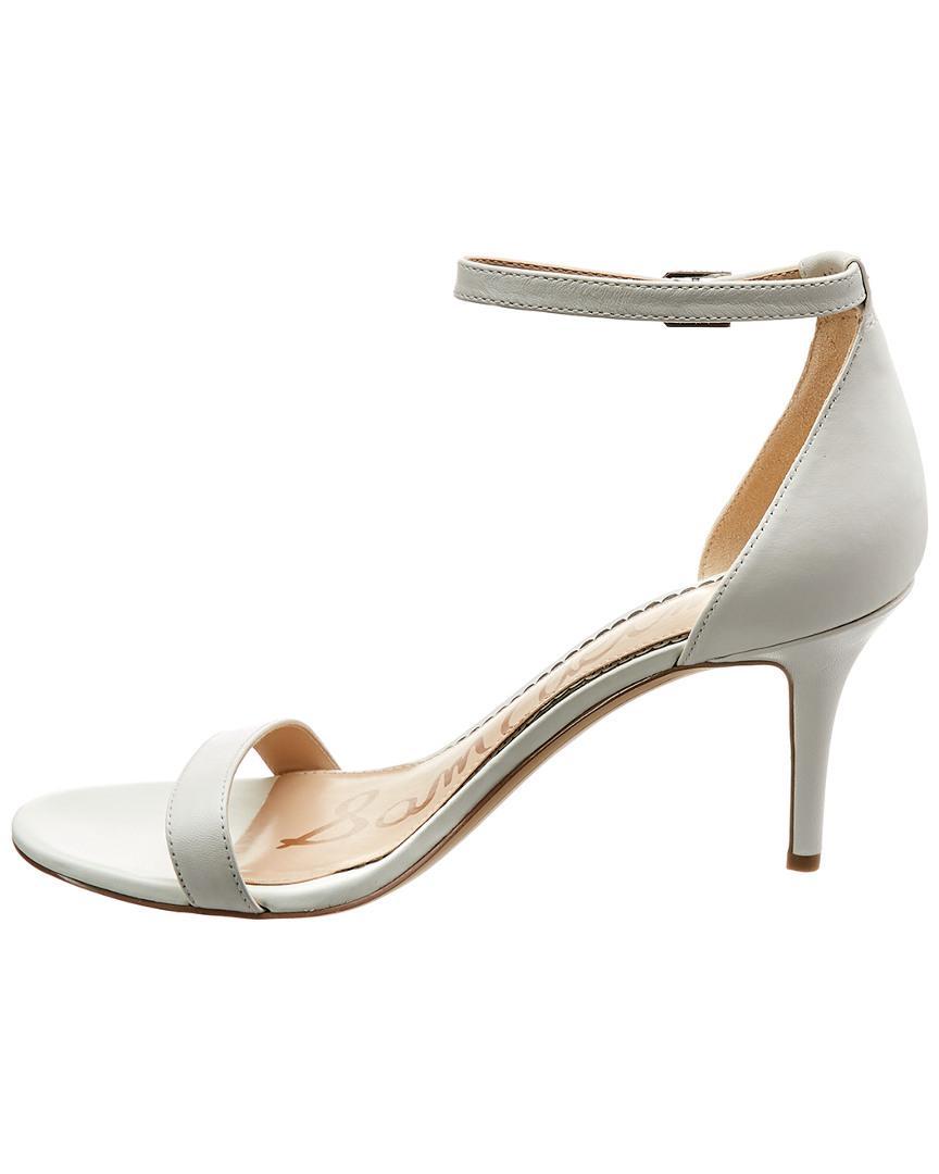 689bf965a060 Sam Edelman Patti Leather Sandal in White - Lyst