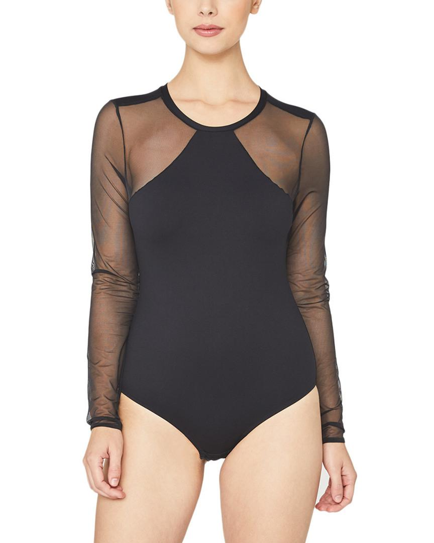 Lyst - Cosabella Bisou Long Sleeve Bodysuit in Black - Save 63% 4ce820433