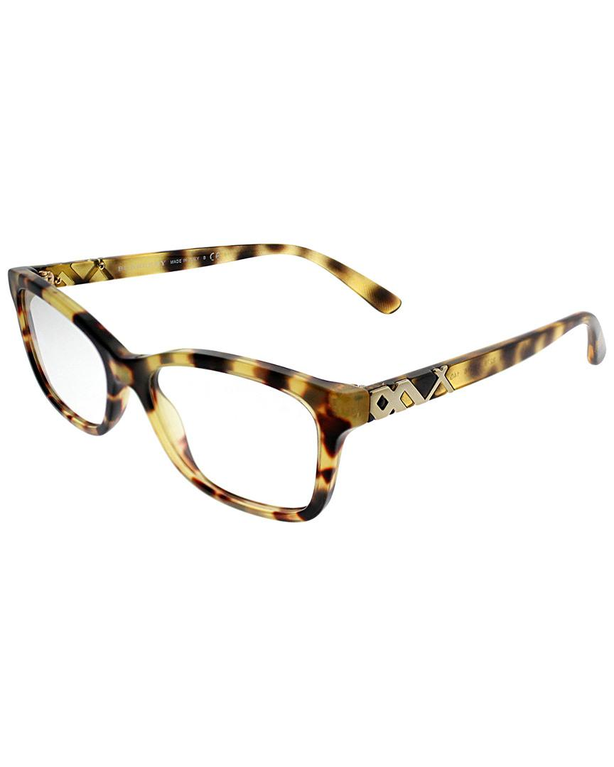 a2c0c96069a Lyst - Burberry Women s Be2249 52mm Optical Frames in Brown